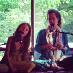 Willow makes her debut as response vocals @ Kirtan in the Woods. Alexandria, VA . Sept 2013 photo: Anna Bryan